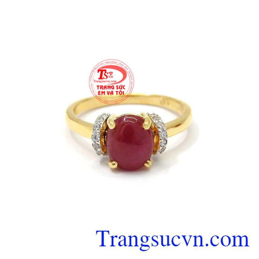 Nhẫn nữ vàng 14k Ruby tôn lên vẻ nữ tính, hiện đại, hợp thời trang cho phái đẹp.