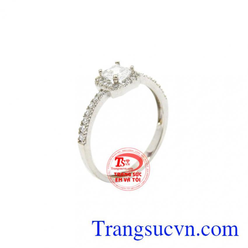 Nhẫn nữ vàng trắng tinh tế 10k