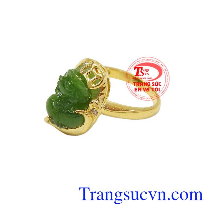 Nhẫn Tỳ Hưu Tài Lộc vàng 14k, bảo hành 12 tháng, giao hàng nhanh trên toàn quốc