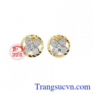 Hoa tai nữ hoa vàng 10k Korea