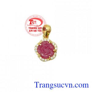 Mặt dây chuyền Ruby vàng 14k