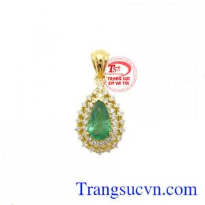 Mặt dây Emerald thiên nhiên