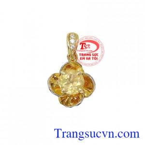 Mặt dây Opal Hoa Hồng