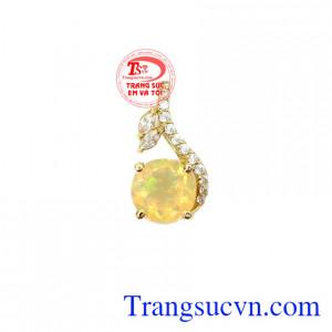 Mặt dây Opal vàng 14k