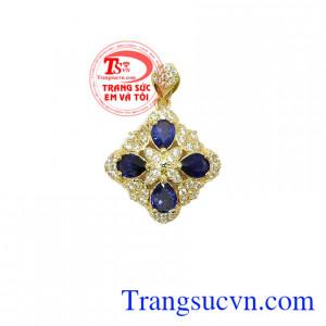 Mặt dây Sapphire xanh lam
