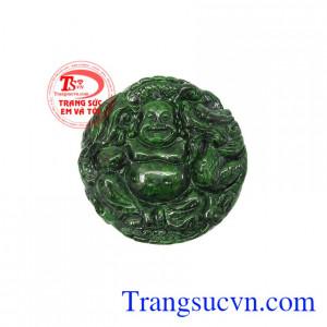 Mặt Jadeite di lặc bình an là sản phẩm mang lại may mắn, xua đuổi tà khí,Mặt Jadeite di lặc bình an