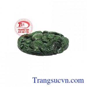 Sản phẩm thích hợp làm quà tặng cho người thân hoặc bạn bè,Mặt Jadeite di lặc bình an
