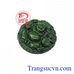 Mặt Jadeite di lặc bình an cẩm thạch được hấp thụ linh khí từ đất trời giúp cho tinh thần phấn chấn,Mặt Jadeite di lặc bình an