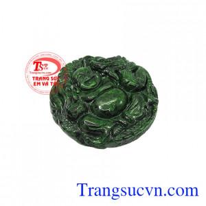 Mặt Jadeite di lặc bình an cẩm thạch tăng nguồn năng lượng trong cơ thể dồi dào, sống tích cực vui vẻ,Mặt Jadeite di lặc bình an