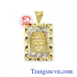 Mặt nam vàng 10k đẳng cấp chế tác đường nét tinh xảo, sắc nét, chất lượng cao cấp