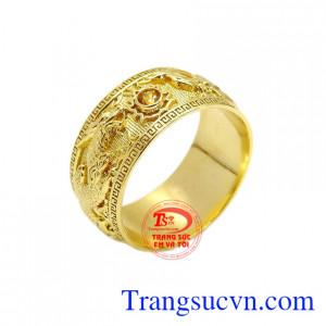 Nhẫn long phượng sapphir vàng