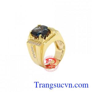 Nhẫn nam vàng Topaz đẹp