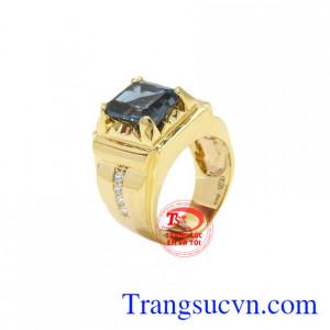 Nhẫn nam vàng Topaz thời thượng
