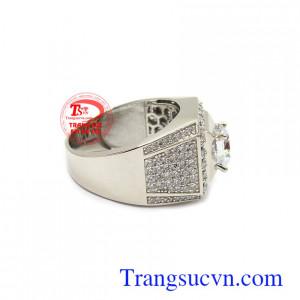 Nhẫn nam vàng trắng Hàn Quốc thời thượng bền đẹp, chất lượng, giao hàng nhanh trên toàn quốc
