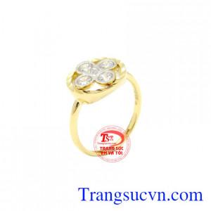 Nhẫn nữ hoa vàng 10k Korea