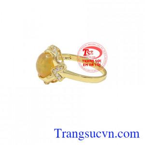 Nhẫn Nữ Opal sang trọng được chế tác từ vàng 14k, bảo hành 12 tháng, giao hàng nhanh trên toàn quốc
