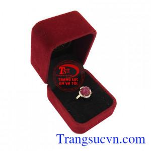 Nhẫn nữ Ruby Hoa Hồng