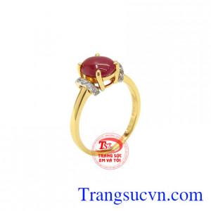 Nhẫn nữ vàng 14k Ruby
