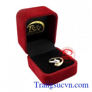 Nhẫn nữ vàng cá heo Korea vàng 10k.