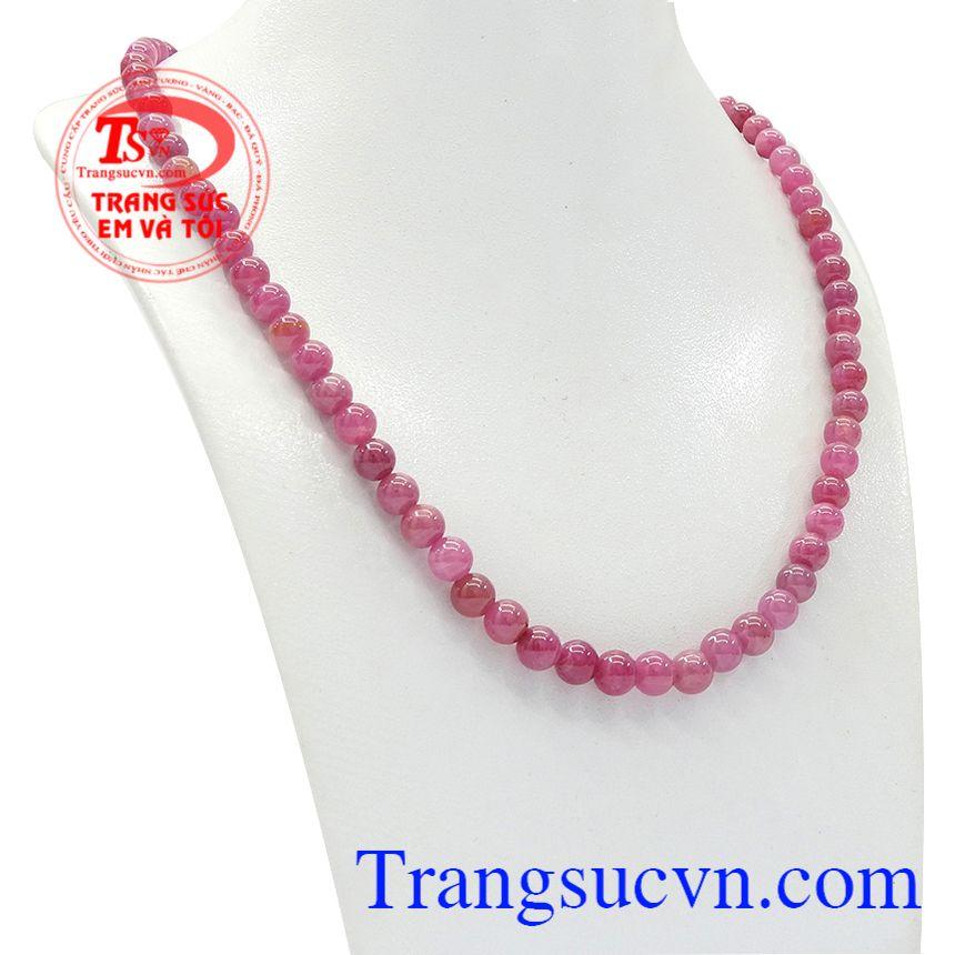 Chuỗi cổ ruby thiên nhiên đẹp thích hợp làm quà tặng cho các mẹ, các bà.