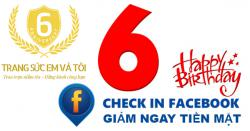 Check in Facebook - Giảm ngay tiền mặt