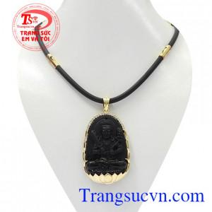 Bộ trang sức phật obsidian tuổi sửu-dần