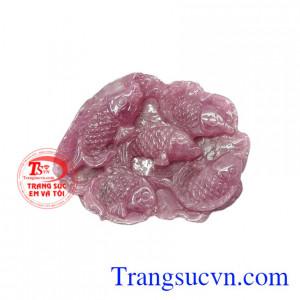 Mặt đá cá chép ruby thiên nhiên