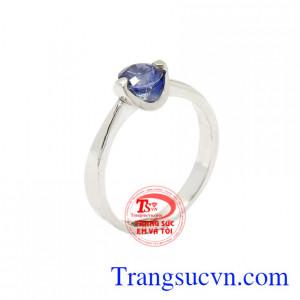 Nhẫn nữ Sapphire vàng trắng đẹp