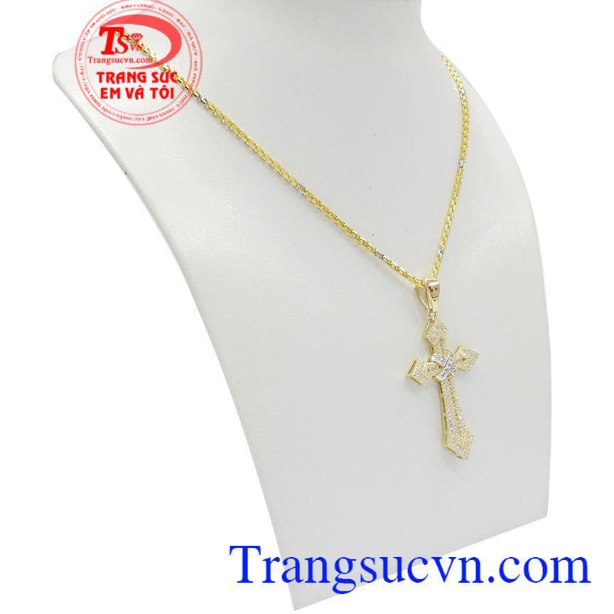Bộ dây chuyền thánh giá đẹp tôn lên sự sang trọng cho người đeo