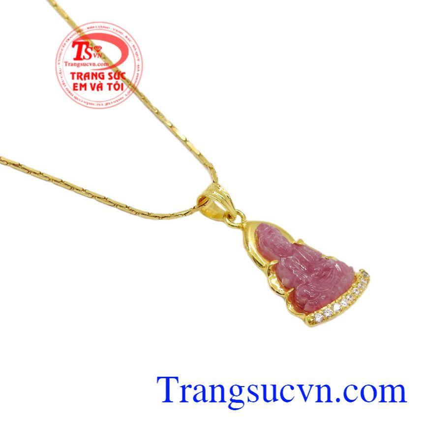 Bộ mặt dây quan âm ruby an yên mang lại may mắn cho người đeo.