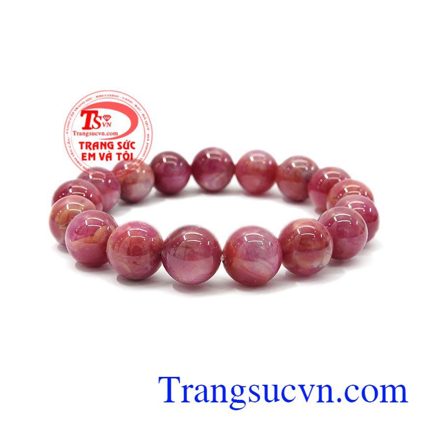 Chuỗi vòng ruby thiên nhiên món quà ý nghĩa dành tặng người thân,Chuỗi tay Ruby 12 ly