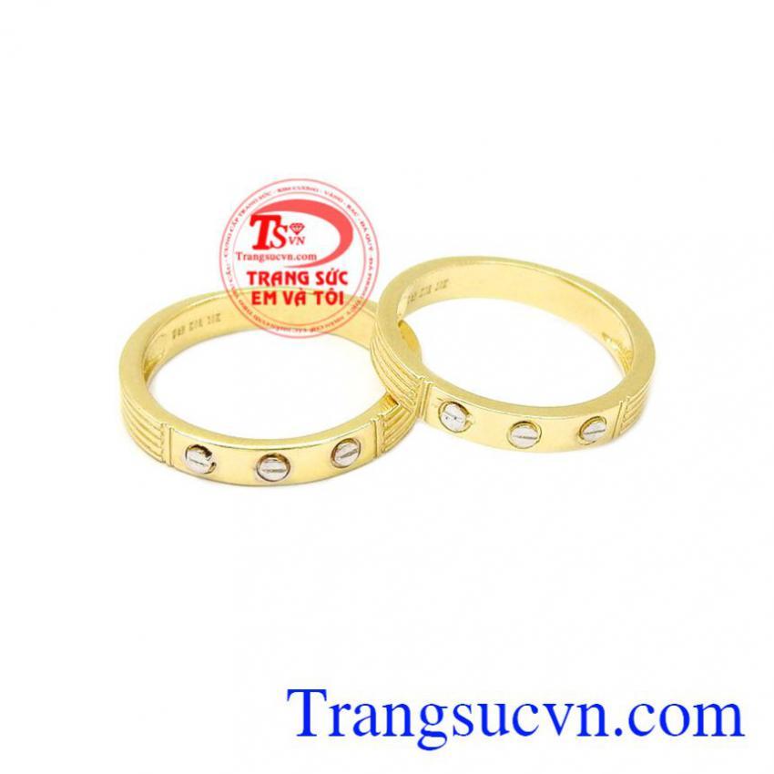 Nhẫn cưới vàng Cartier
