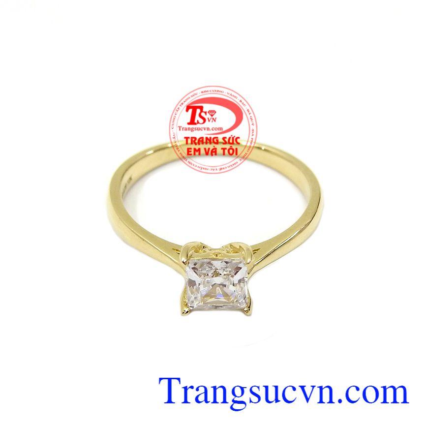 Nhẫn nữ vàng tây dành cho phái đẹp phù hợp làm quà tặng sinh nhật hoặc trong các dịp ý nghĩa