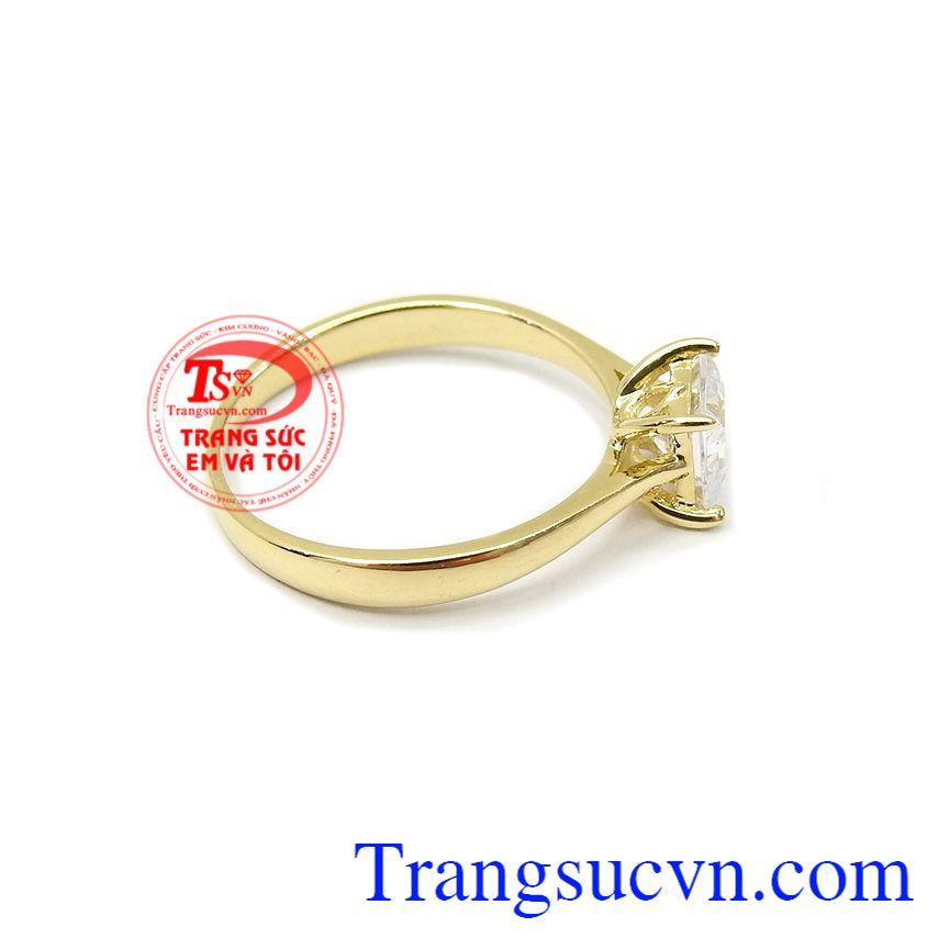 Nhẫn nữ vàng đẹp dịu dàng, bảo hành 6 tháng, giao hàng nhanh trên toàn quốc