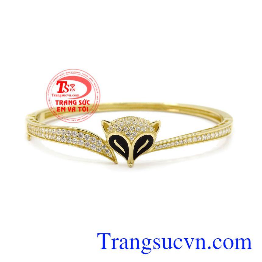 Vòng tay vàng hồ ly mang lại vẻ dễ thương, tinh tế cho người đeo.