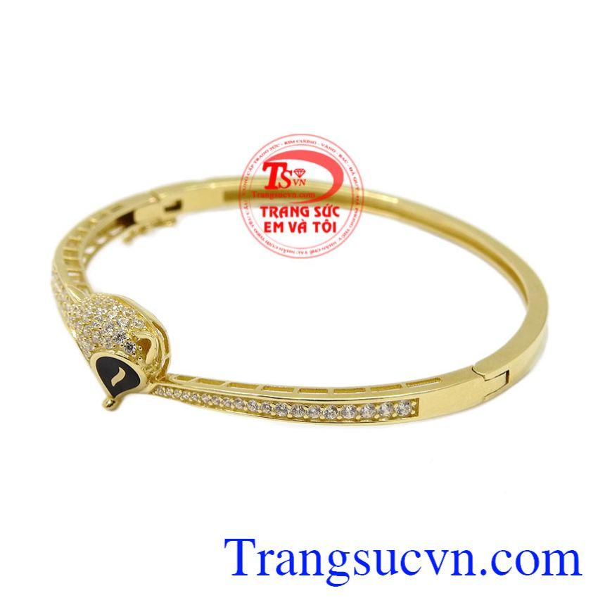 Vòng tay vàng hồ ly Korea vàng 10k bảo hành 6 tháng.