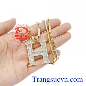 Trang sức vàng tây nam nổi bật và cá tính. Bộ trang sức chữ H sang trọng