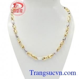 Dây chuyền vàng nam lịch lãm được nhập khẩu từ Italy, chất lượng uy tín