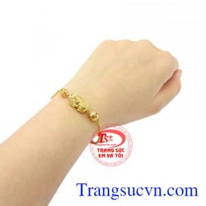 Lắc tay nữ vàng tỳ hưu vàng 10k chất lượng.
