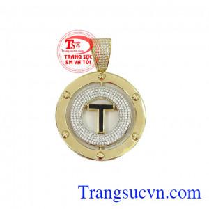 Mặt dây chuyền nam chữ T đẹp được sản xuất theo công nghệ mới của Hàn Quốc