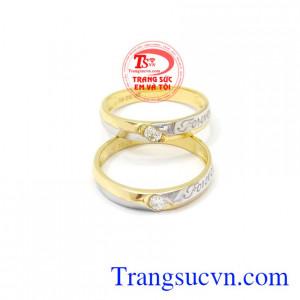 Nhẫn cưới Forever hạnh phúc Korea vàng 10k xinh xắn, tinh tế.