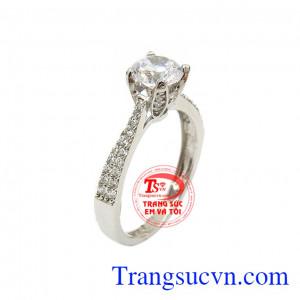 Nhẫn đính hôn vàng trắng đẹp