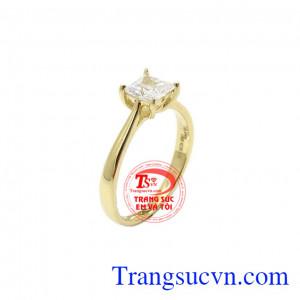 Nhẫn nữ vàng đẹp dịu dàng