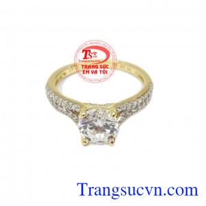 Nhẫn nữ vàng hạnh phúc bảo hành 6 tháng, giao hàng nhanh trên toàn quốc