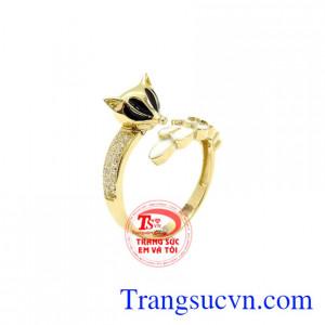 Nhẫn nữ vàng hồ ly