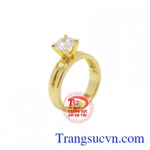 Nhẫn nữ vàng lấp lánh