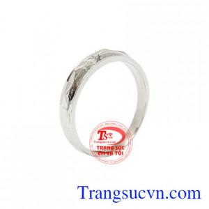 Nhẫn nữ vàng trắng chất lượng