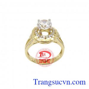 Nhẫn nữ vàng xinh xắn mang lại vẻ đẹp dịu dàng, xinh xắn cho phái đẹp