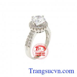 Nhẫn vàng trắng đẳng cấp