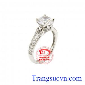 Nhẫn vàng trắng thời trang